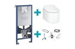 Sensia Arena WC lavant complet pour réservoir de chasse encastré, avec abattant blanc, avec équipement et set d'installation