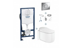 complete sensia arena GROHE + GROHE Sensia Arena Kit d'installation pour chasse automatique + GROHE Rapid SL + GROHE Plaque