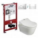 Maro D'Italia Di600 douchette WC + TOTO RP CW552Y + TECE Profil + TECE Plaque de poussée