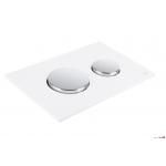 Tece plaque de déclenchement blanc, touche chromé brillant LOOP 9240627
