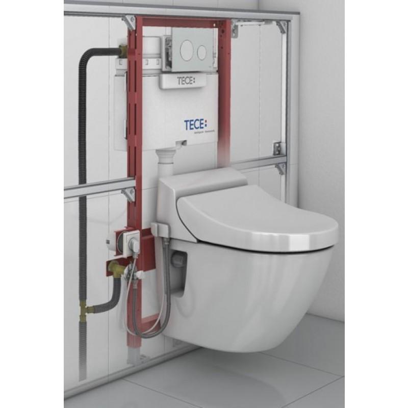 tece 9300022 teceprofil module de wc avec chasse d 39 eau hauteur de montage 980 mm. Black Bedroom Furniture Sets. Home Design Ideas